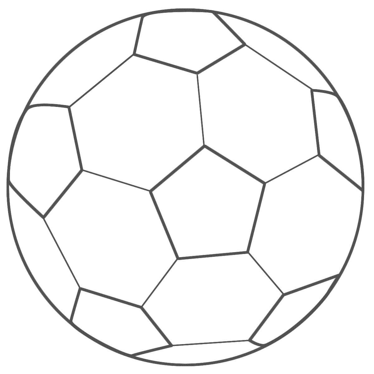 Figura De Bola Para Colorir – Pampekids Net