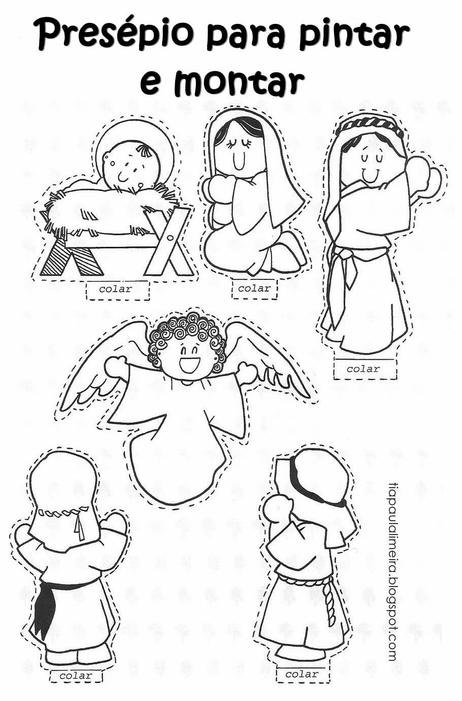 Tia Paula  Mais Figuras De Natal Para Colorir