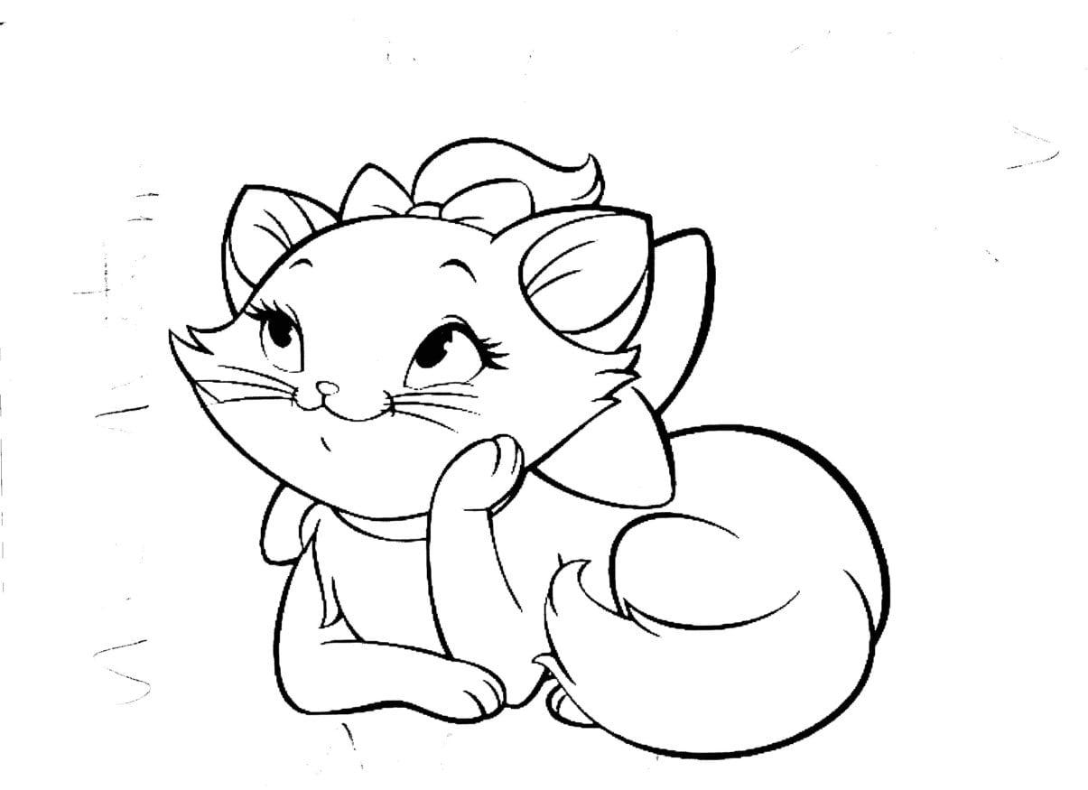 Desenhos Para Colorir Da Gatinha Marie