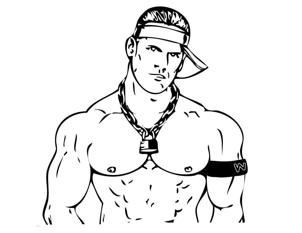 Desenho De Homem Malhado Para Colorir