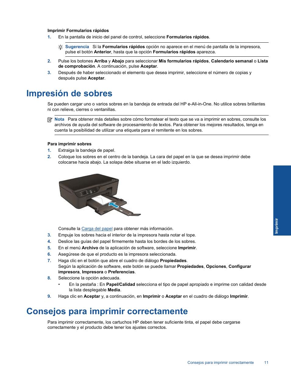 Impresión De Sobres, Consejos Para Imprimir Correctamente