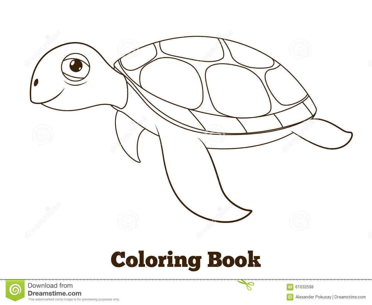 Ilustração Do Animal De Mar Da Tartaruga Do Livro Para Colorir