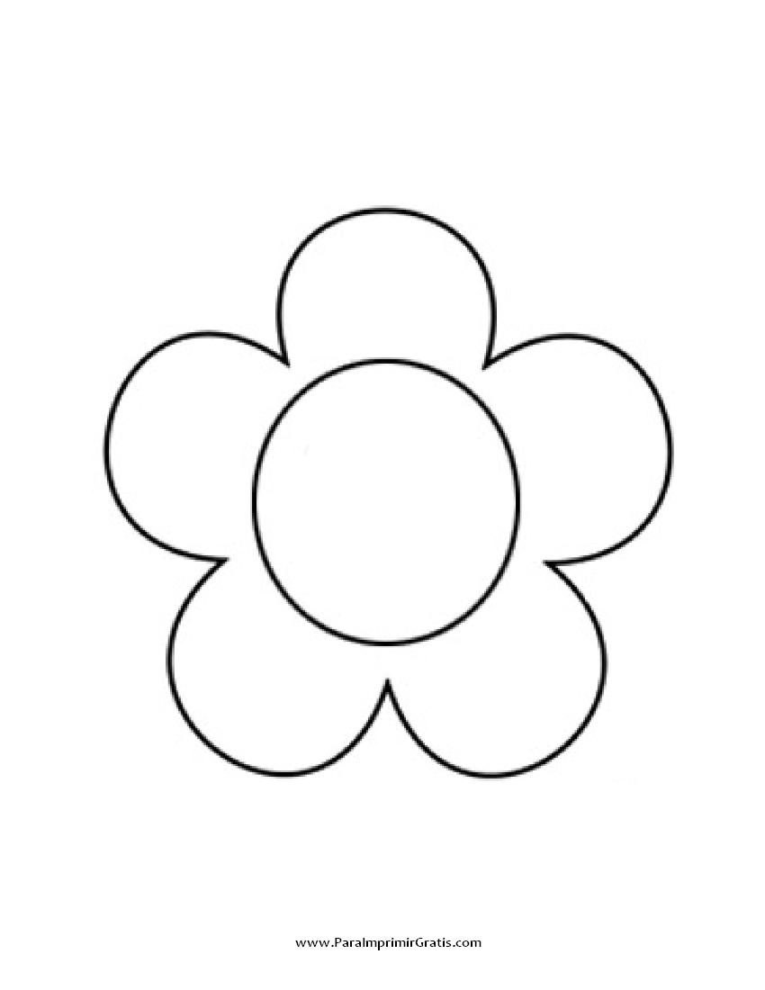Flores Para Imprimir E Colorir