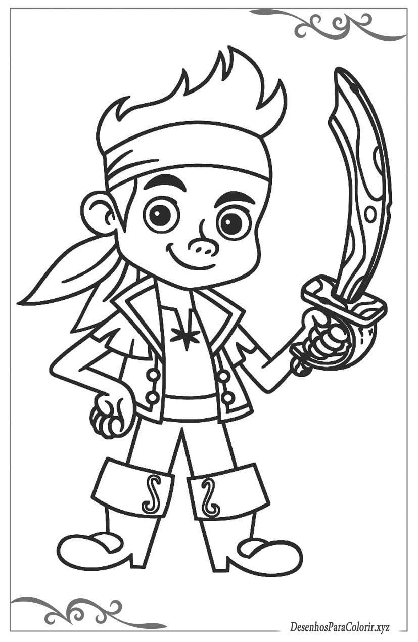 Jake E Os Piratas Da Terra Do Nunca Desenhos Para Colorir De