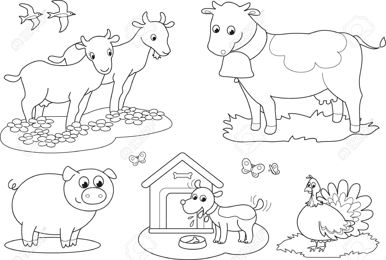 Jogos De Pintar Animais Da Fazenda