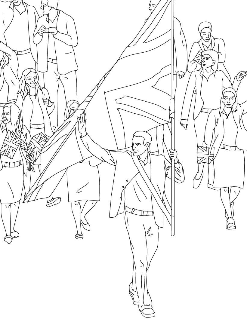 Desenho De Barney Nos Jogos Olímpicos Para Colorir