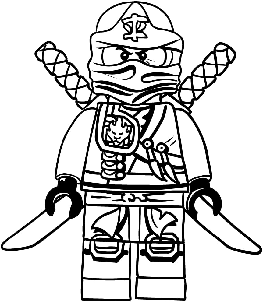 Desenho De Kai Dos Ninjago Para Colorir
