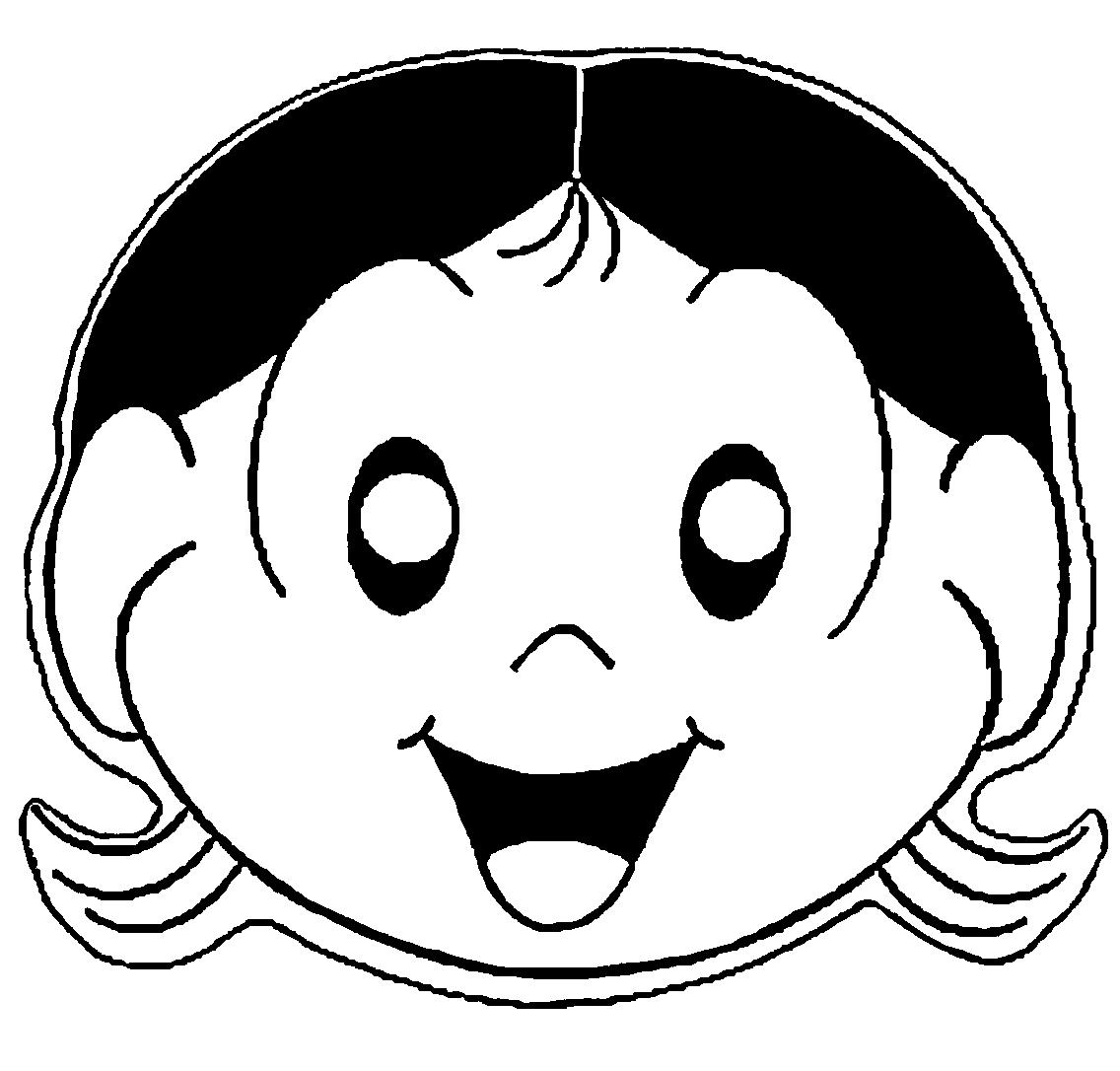 Desenho De Máscara Da Magali Para Colorir