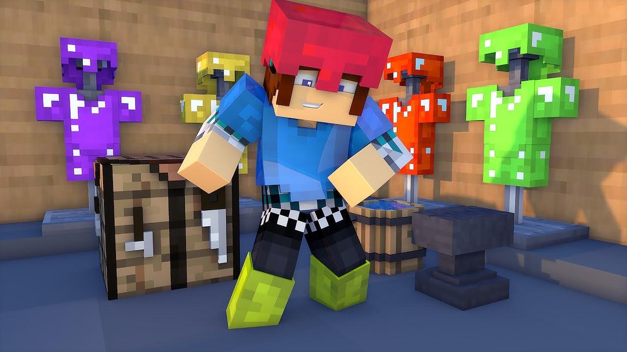 Minecraft Mod  FaÇa Armaduras De Varias Cores !!