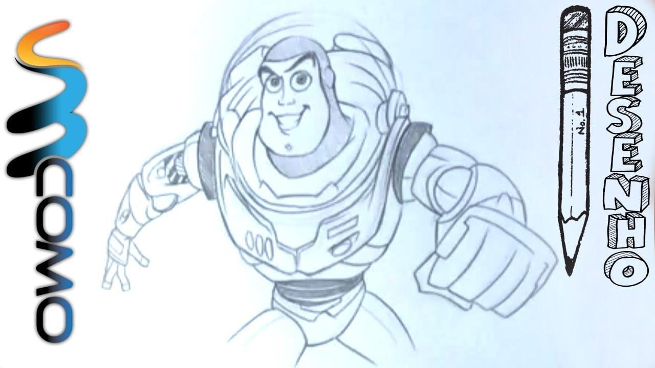 Desenhando Buzz Ligthyear Em Poucos Minutos