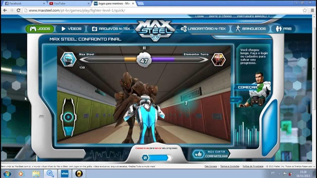 Jogando Max Steel
