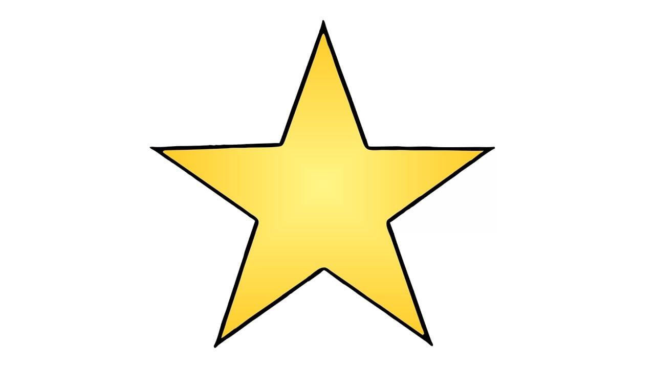 Como Desenhar Uma Estrela (fácil)