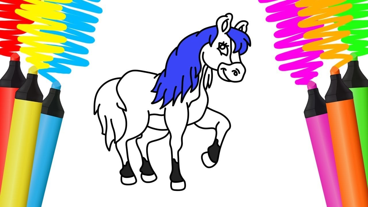 Como Desenhar E Pintar Cavalo