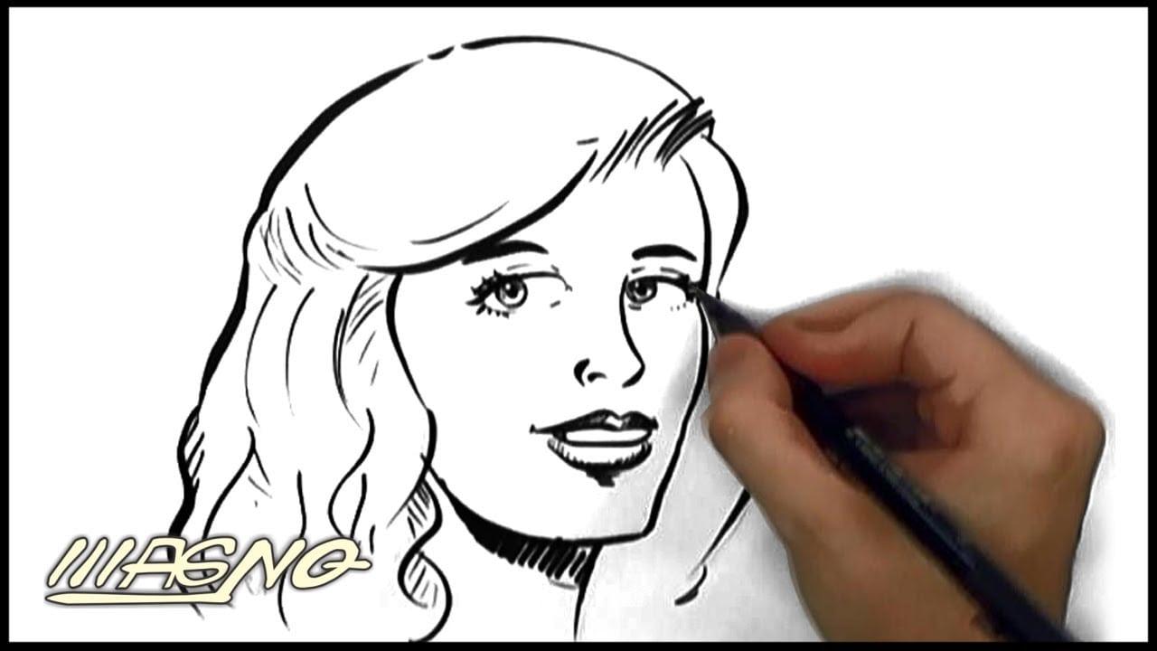 Curso De Desenho  Como Desenhar Rosto Feminino (how To Draw A