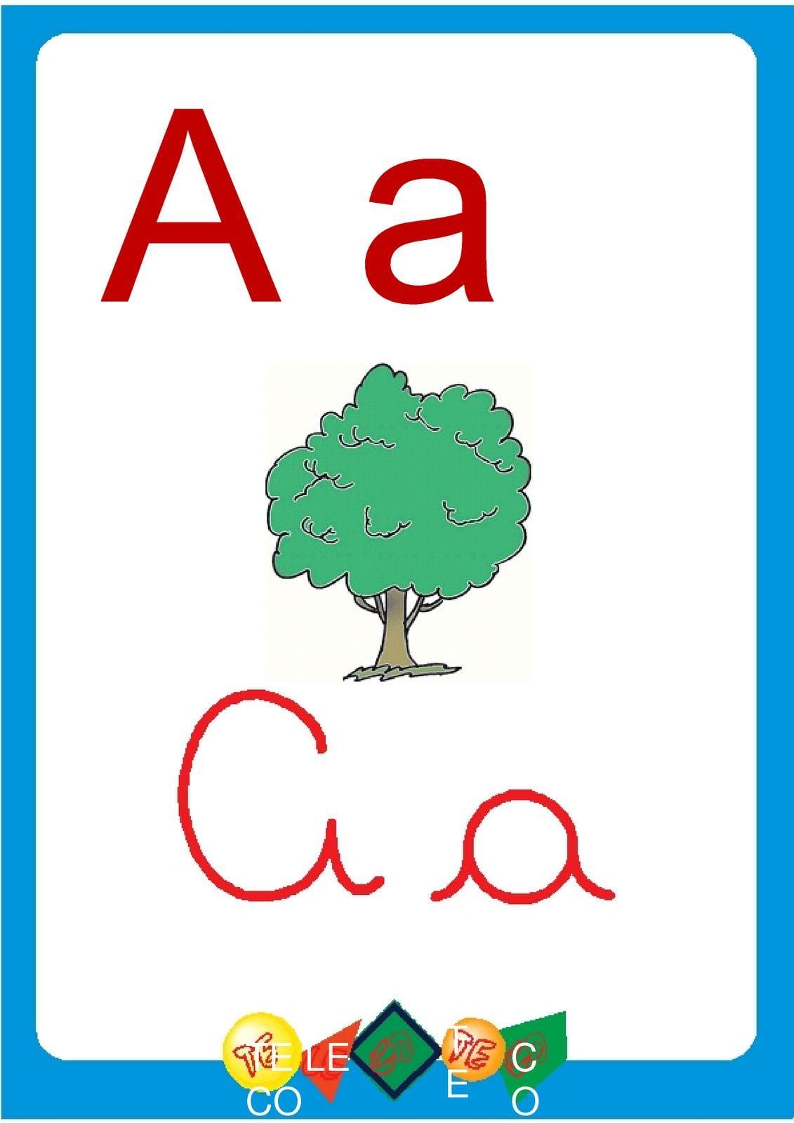 Blog Professor Zezinho   Alfabeto Ilustrado Colorido Cartazes De