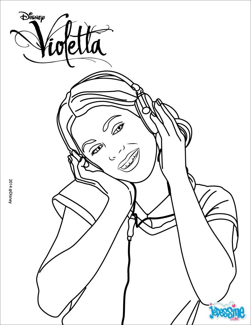 Desenhos Para Colorir De Violetta Ouvir Música