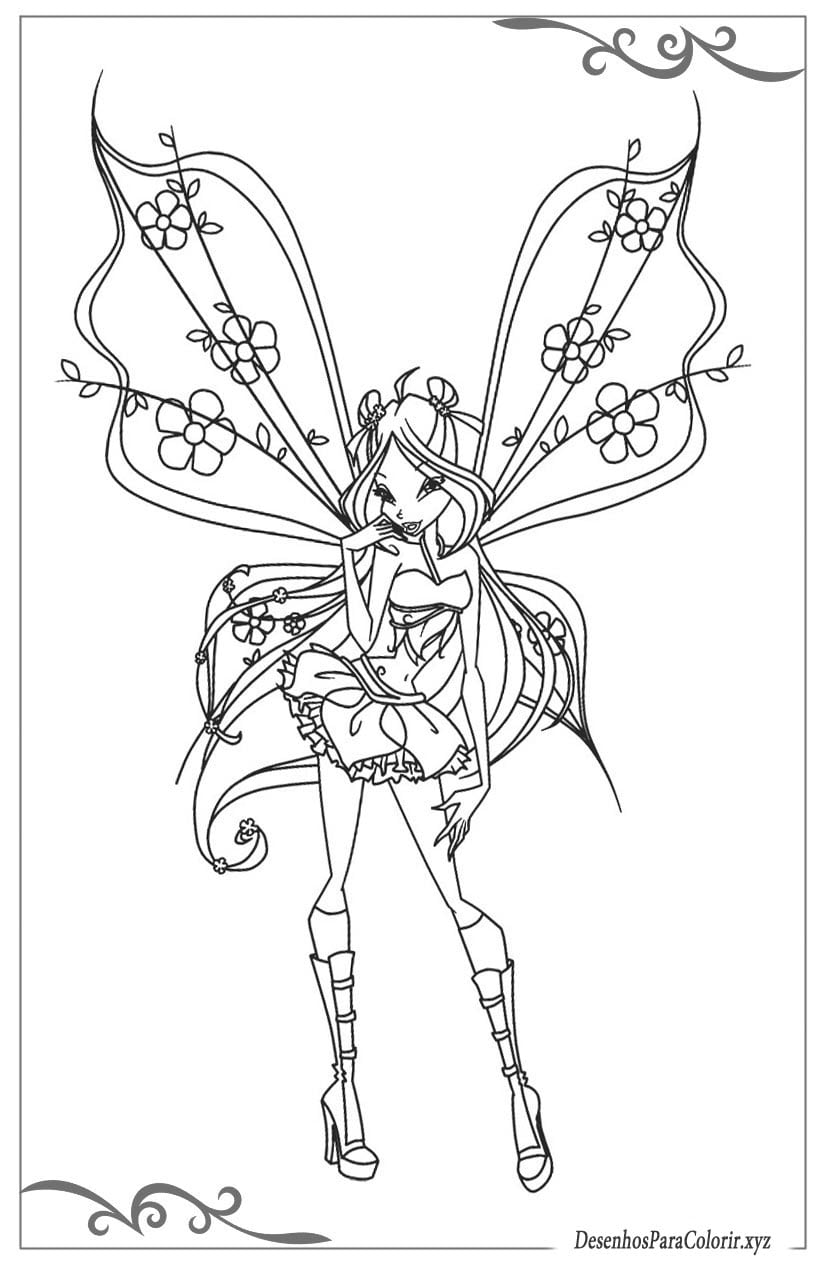 Winx Club Desenhos Para Colorir E Imprimir