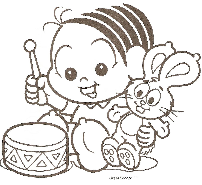 Desenhos Para Colorir  Mônica Baby