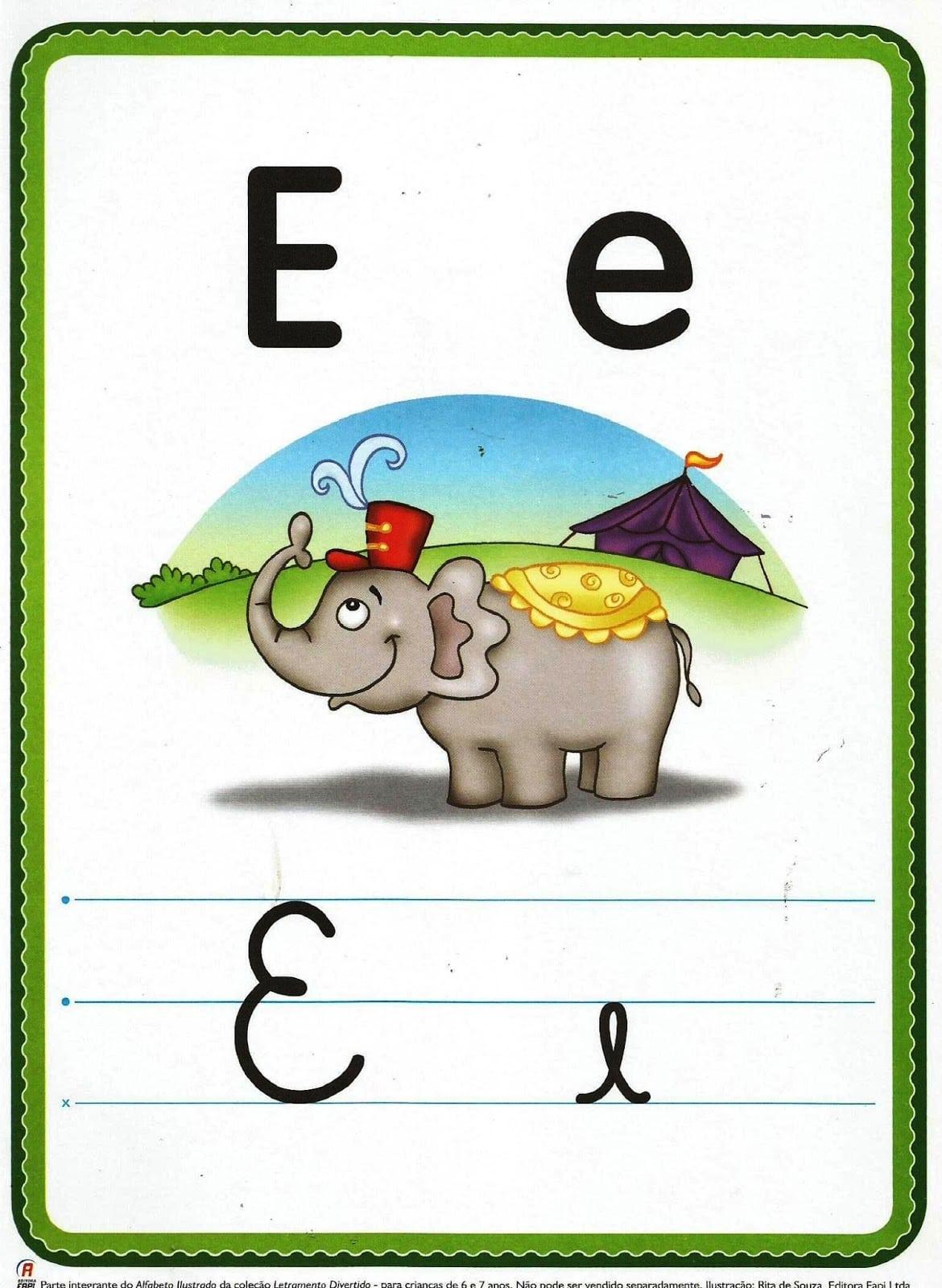 Mais EducaÇÃo  Alfabeto Ilustrado Para Cartaz