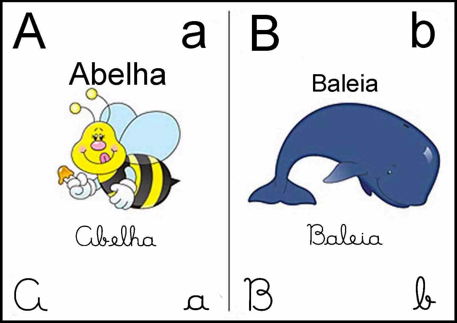 Professora Bel  Alfabeto Com Os Quatro Tipos De Letras