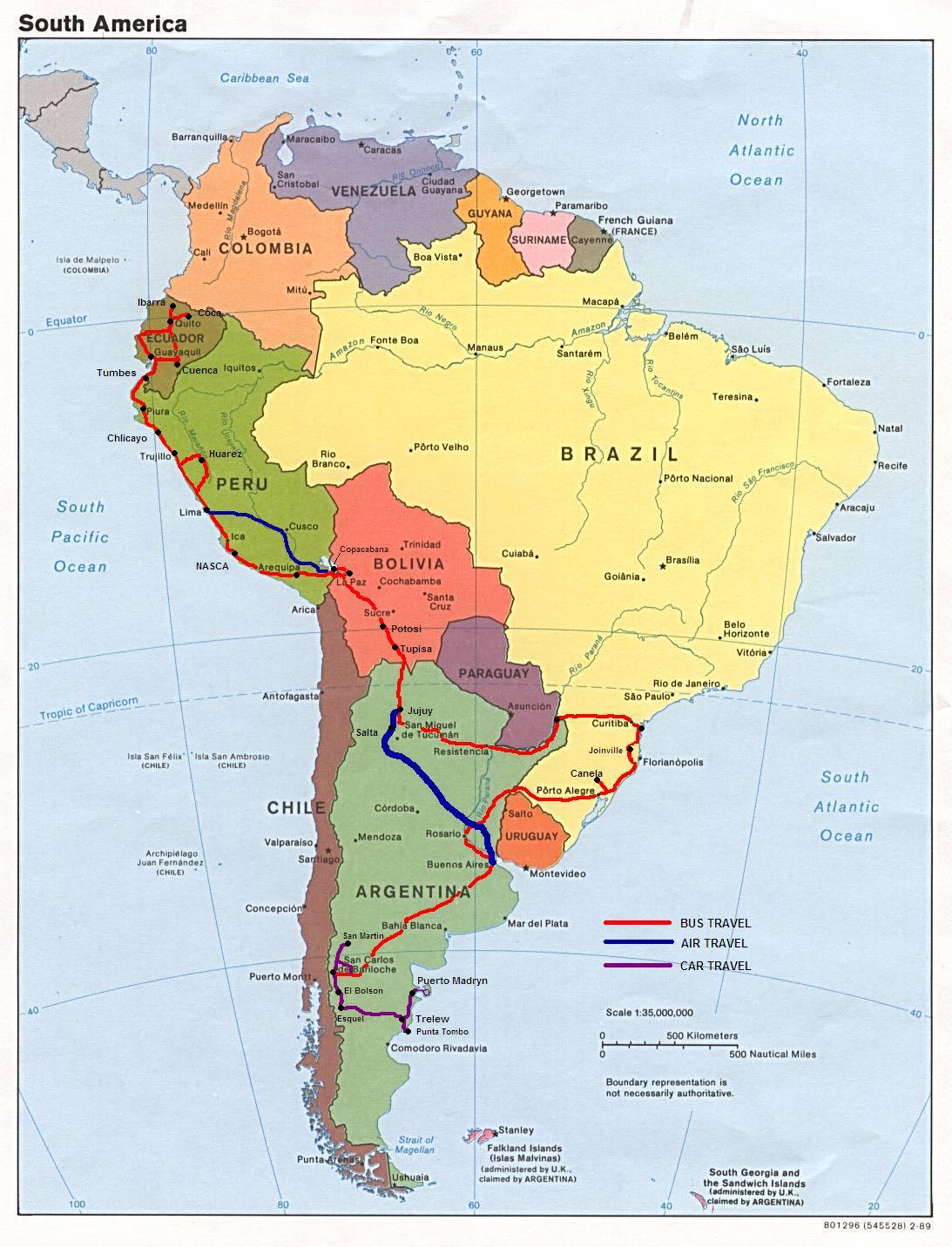 Mapa Das Americas Para Imprimir
