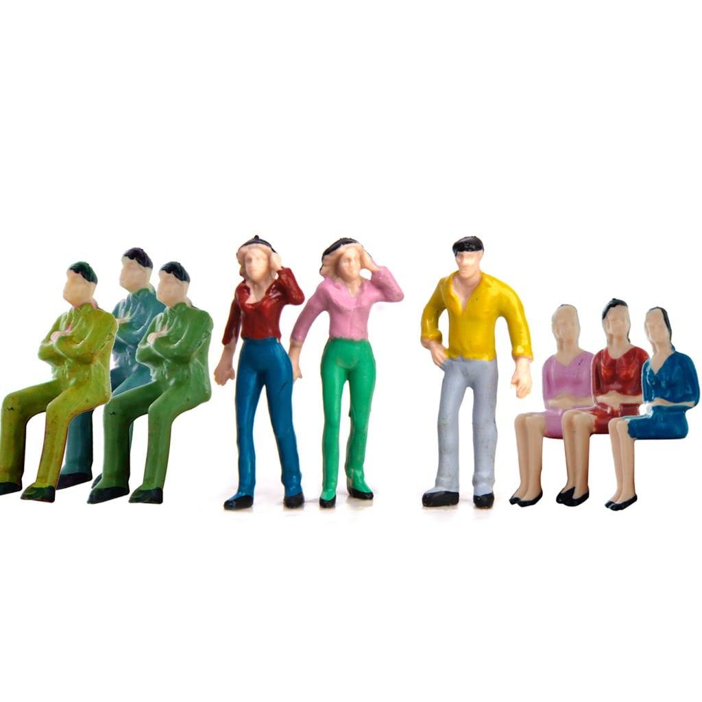 Approx 50pcs Mão Pintado Modelo Trem Pessoas Figuras Escala