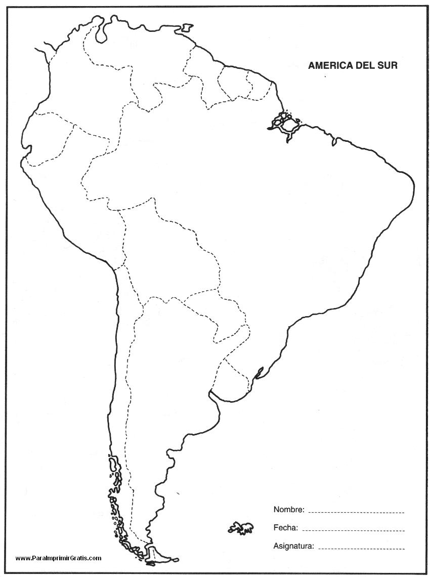 Resultado De Imagen Para Mapa Politico De America Del Sur Para