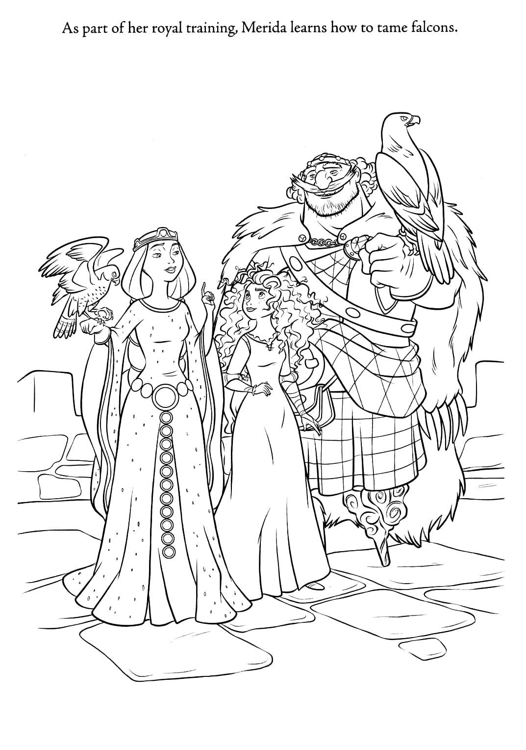 De Colorir! Valente Princesa Merida – Pampekids Net