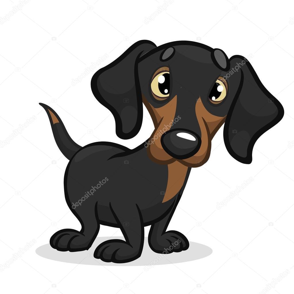 Ilustração Em Vetor Dos Desenhos Animados De Cachorro Fofo