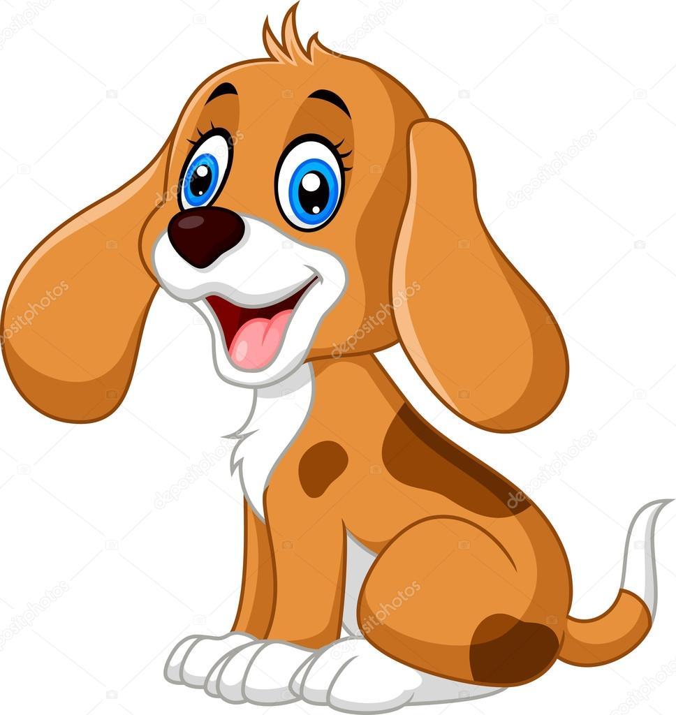 Desenho Cachorro Bonito — Vetores De Stock © Dreamcreation01