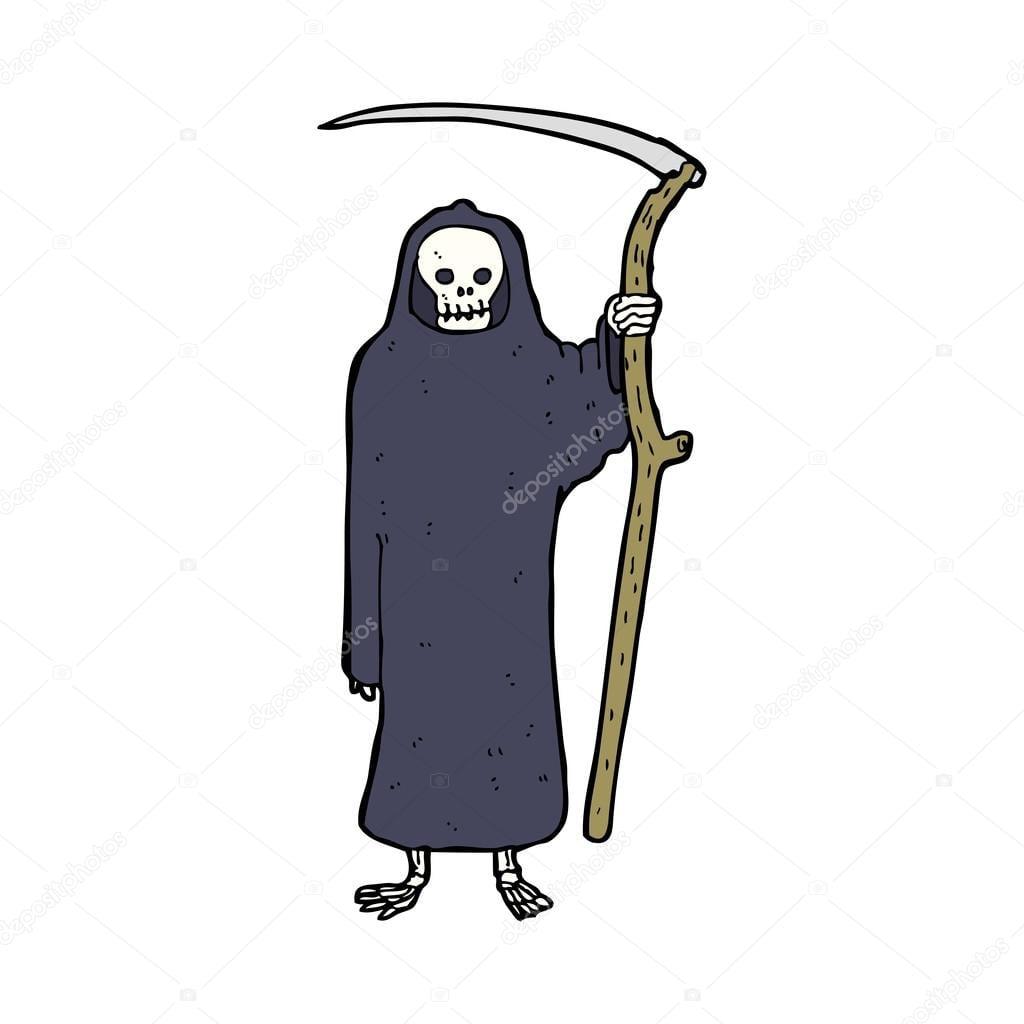 Desenhos Animados De Morte — Vetores De Stock © Lineartestpilot