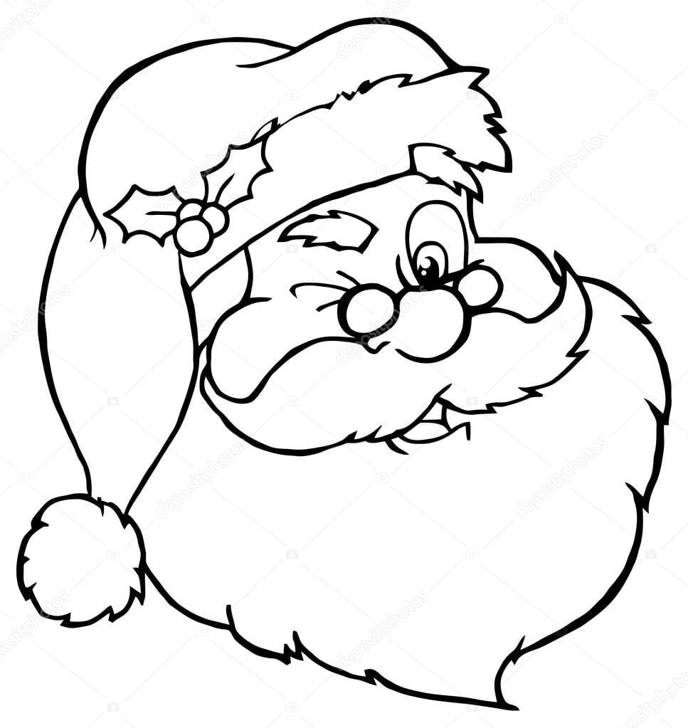 Rosto De Papai Noel — Vetor De Stock © Hittoon  61063611