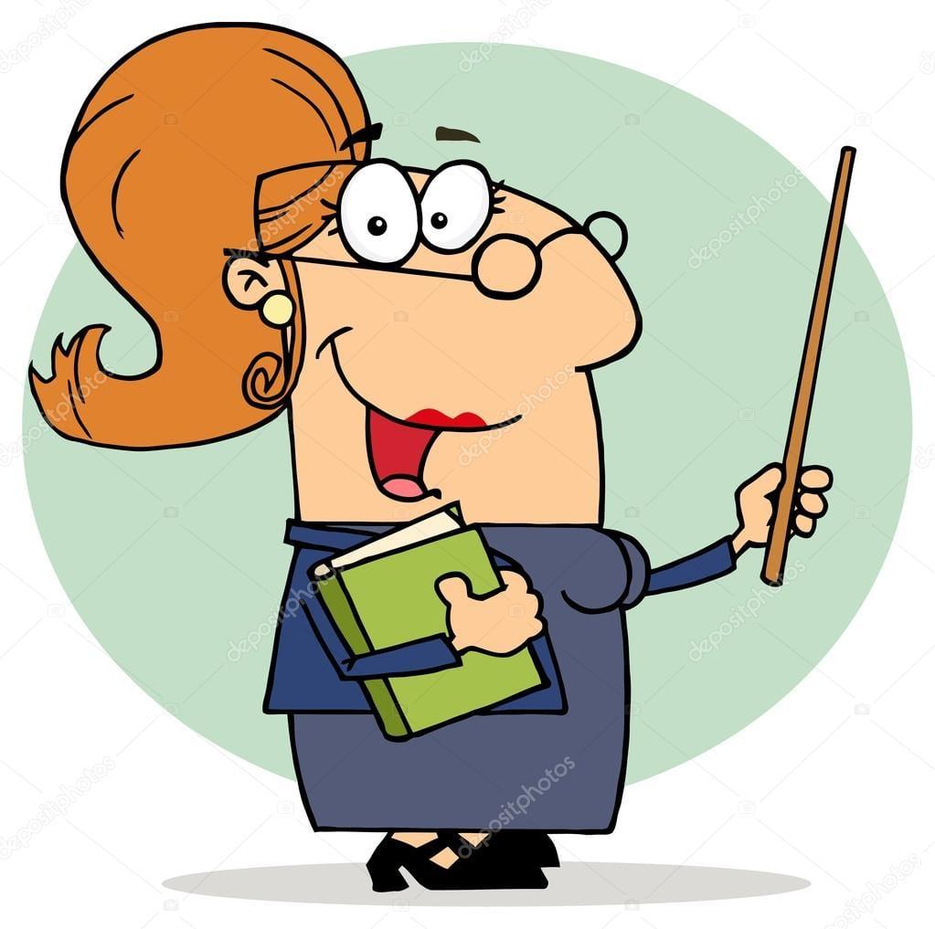 Desenhos Animados Professora Feminino — Vetor De Stock © Hittoon