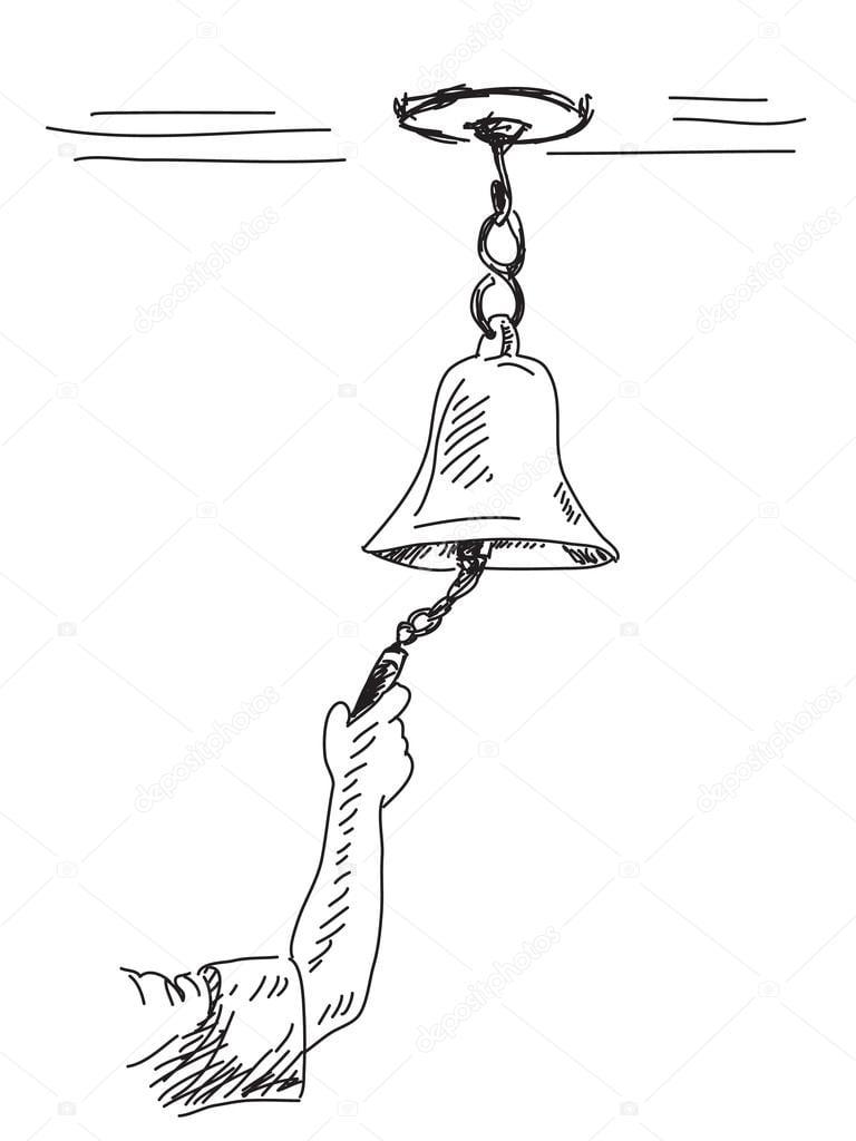 Desenho De Sino Mão Desenhada — Vetores De Stock © Olgatropinina
