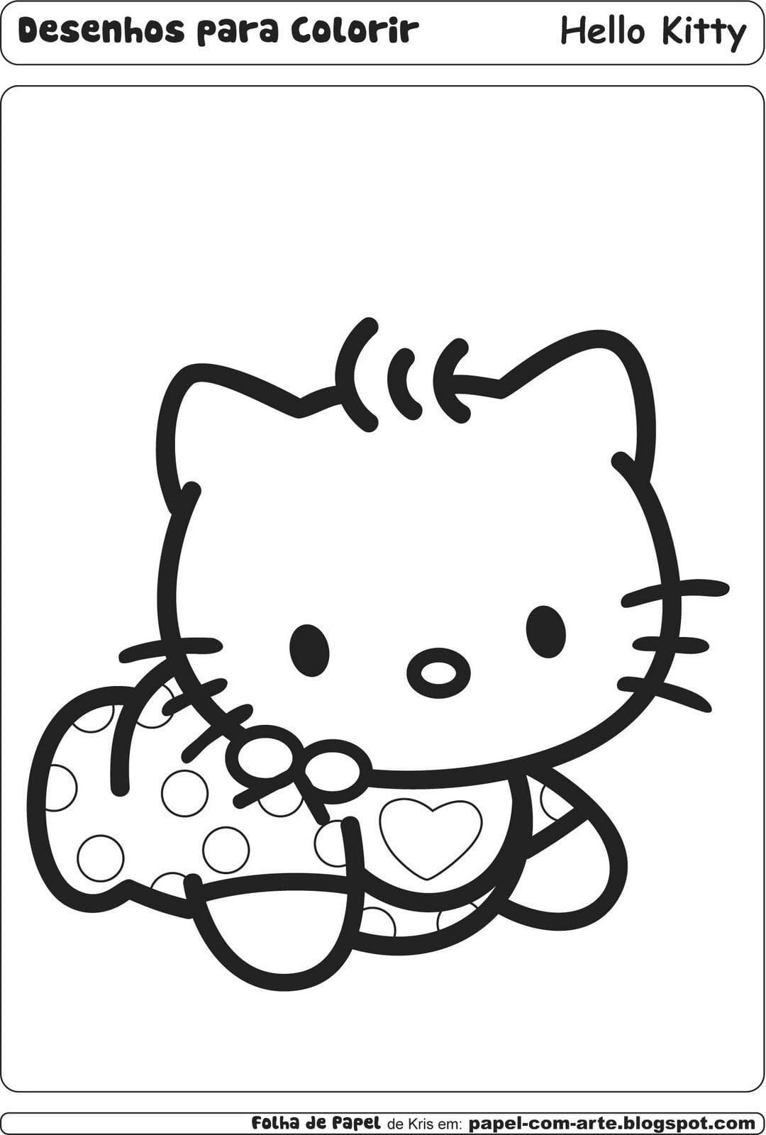 Desenho De Hello Kitty Para Colorir – Free Coloring Pages