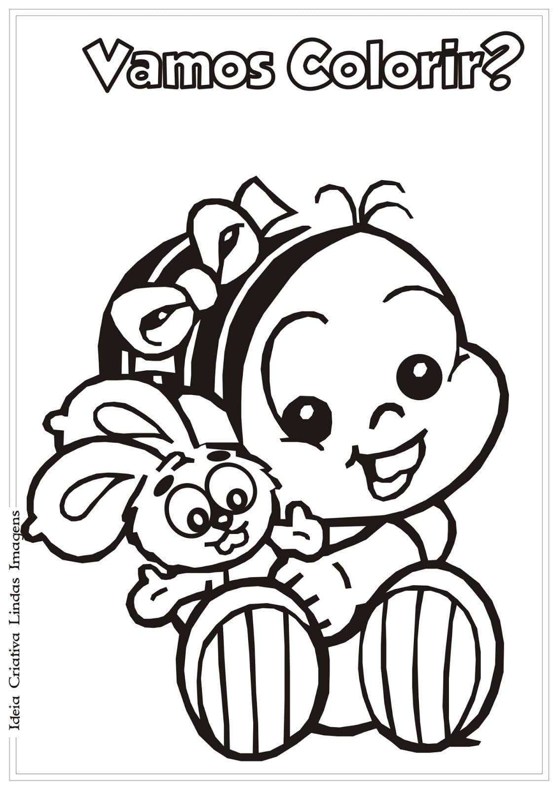 Mônica Baby Para Colorir