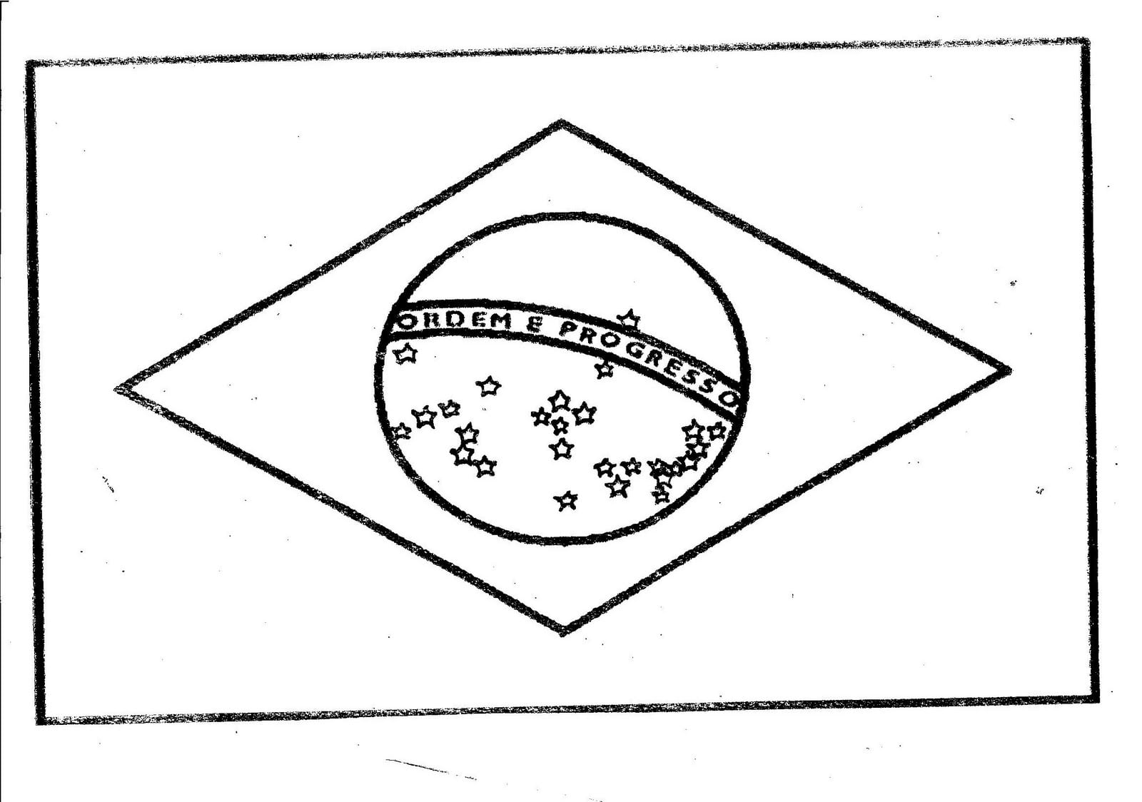 Desenhos Para Colorir Da Bandeira Do Brasil