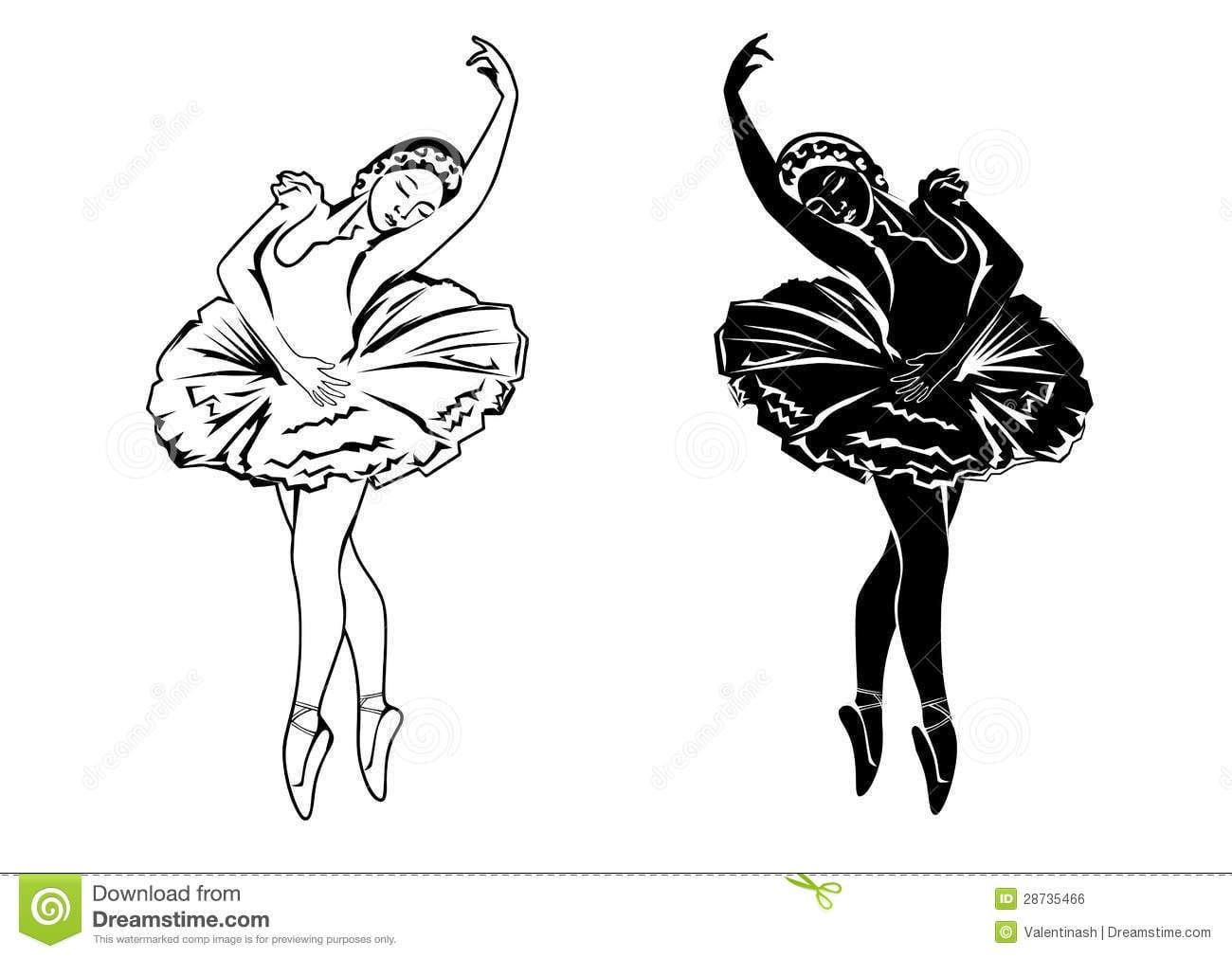 Duas Bailarinas Ilustração Do Vetor  Ilustração De Movimento