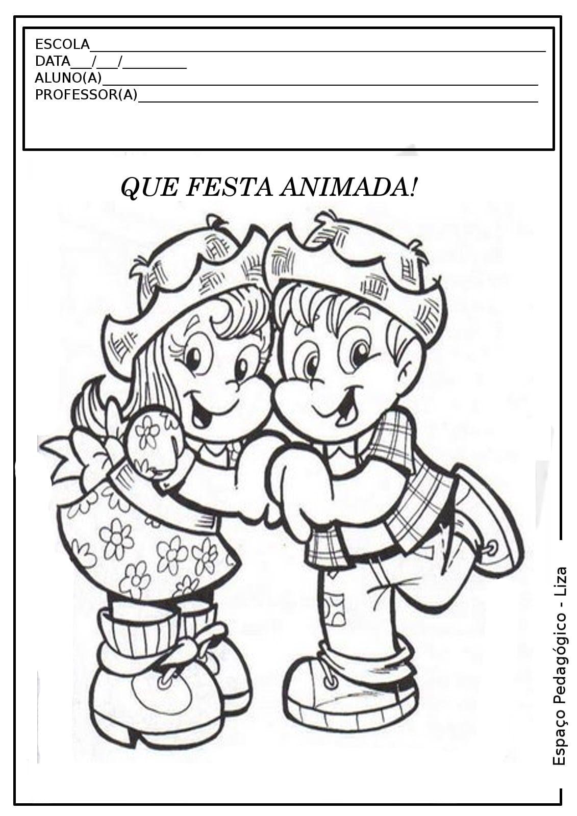 Imagens Para Colorir E Imprimir De Festa Junina