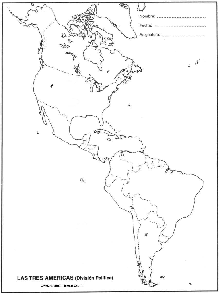 Mapa America Del Sur Politico Para Imprimir Mapa De Las Tres