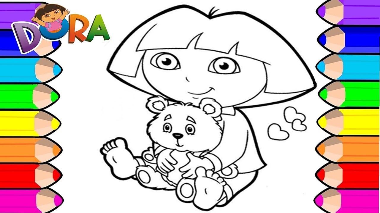 Desenhos Para Pintar: Desenho Para Pintar Da Dora