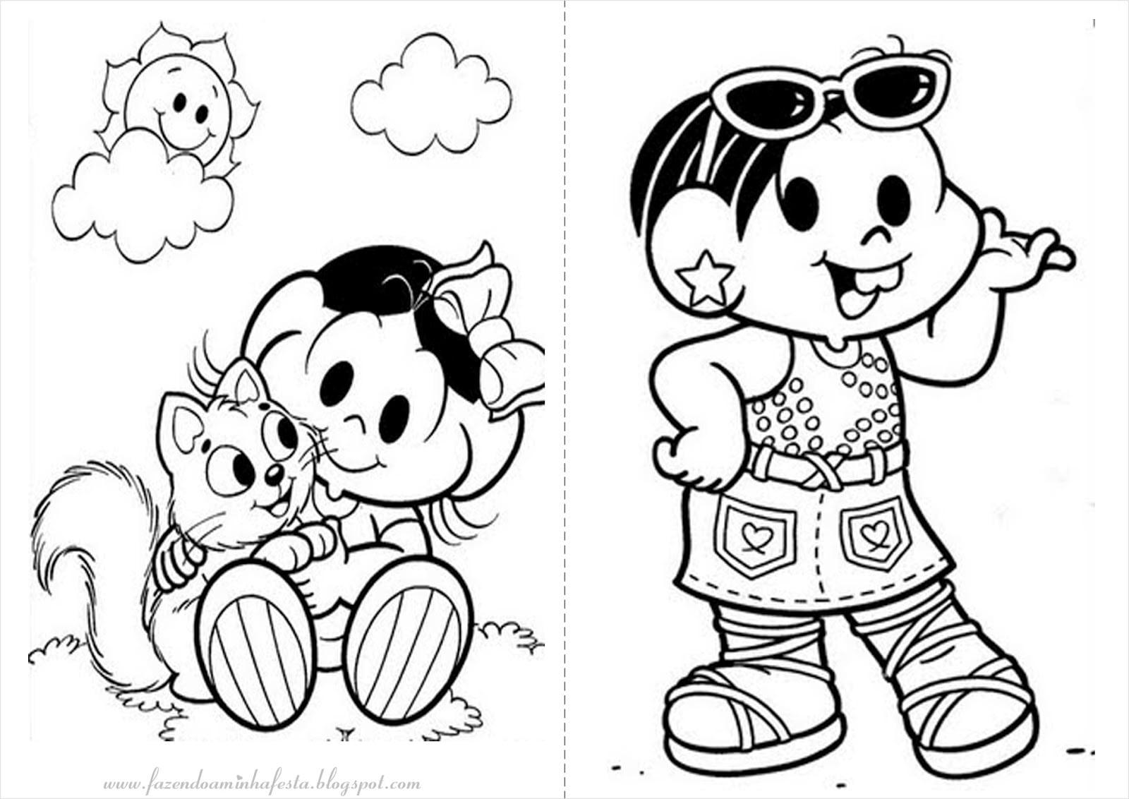 Desenhos Para Colorir Turma Da Monica Jovem