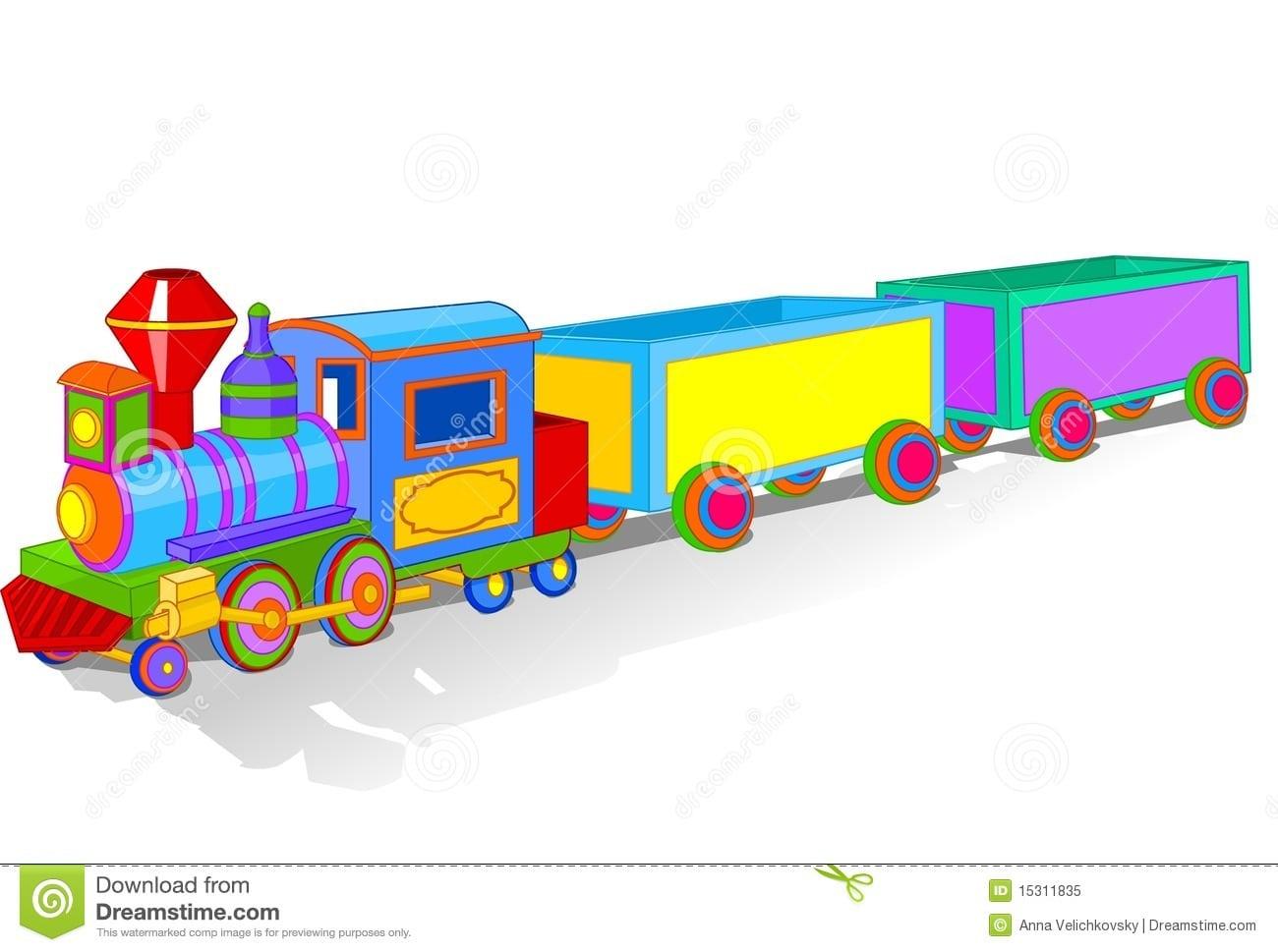 Trem Colorido Do Brinquedo Ilustração Do Vetor  Ilustração De