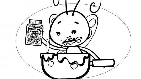Dibujos Ideia Criativa  Desenhos Pra Colorir Galinha Pintadinha