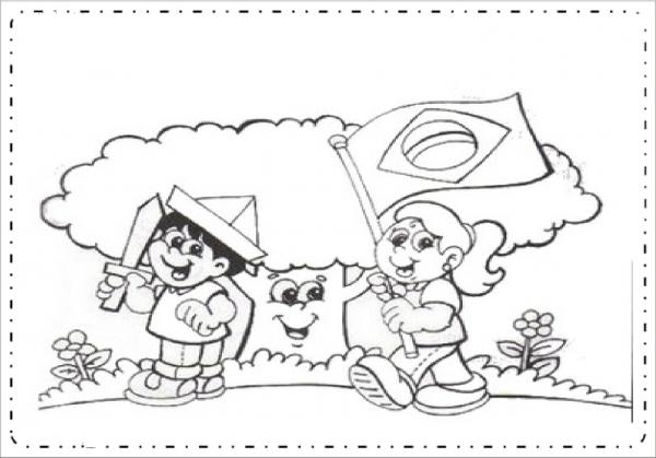 Desenhos Dia Da Bandeira Para Colorir E Imprimir  — SÓ Escola