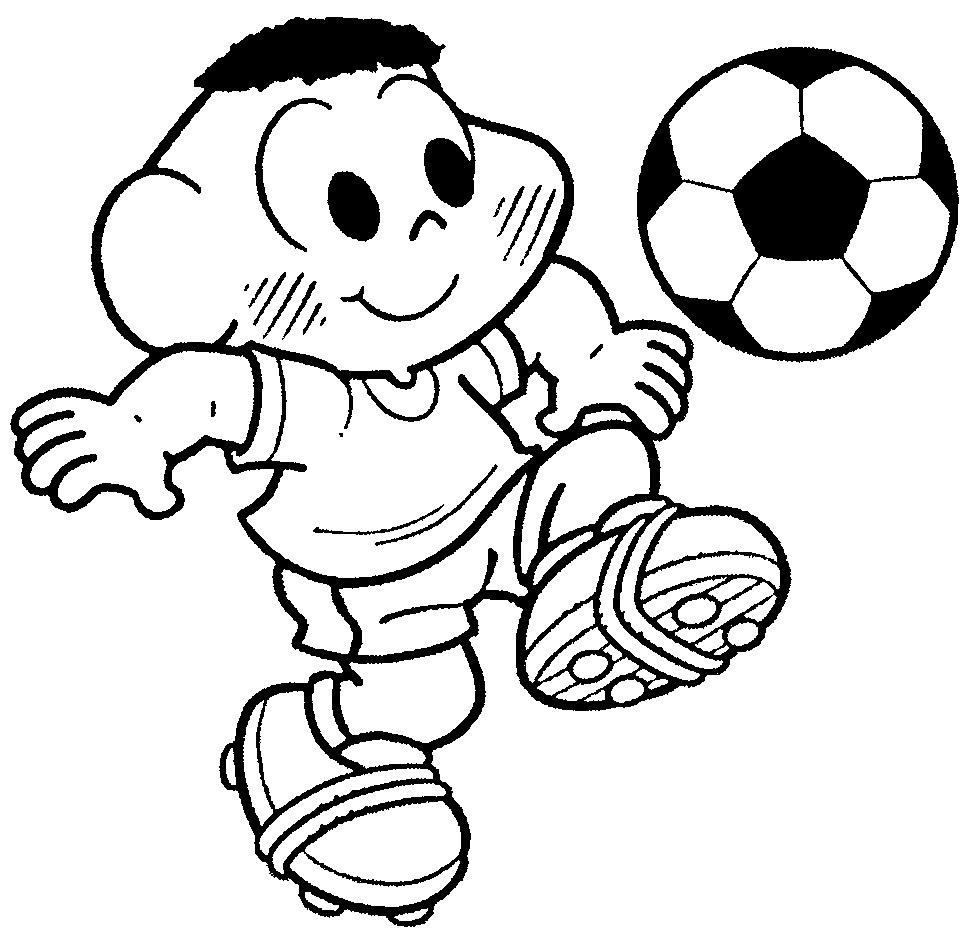 Desenhos Para Colorir Copa Do Mundo E A Turma Da Mônica — SÓ Escola