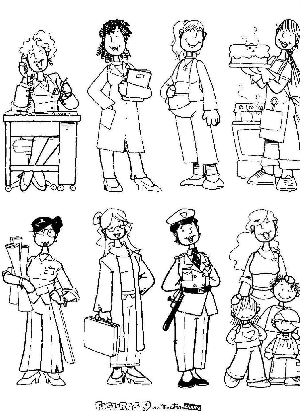 Desenhos Para Colorir De Pessoas – Pampekids Net