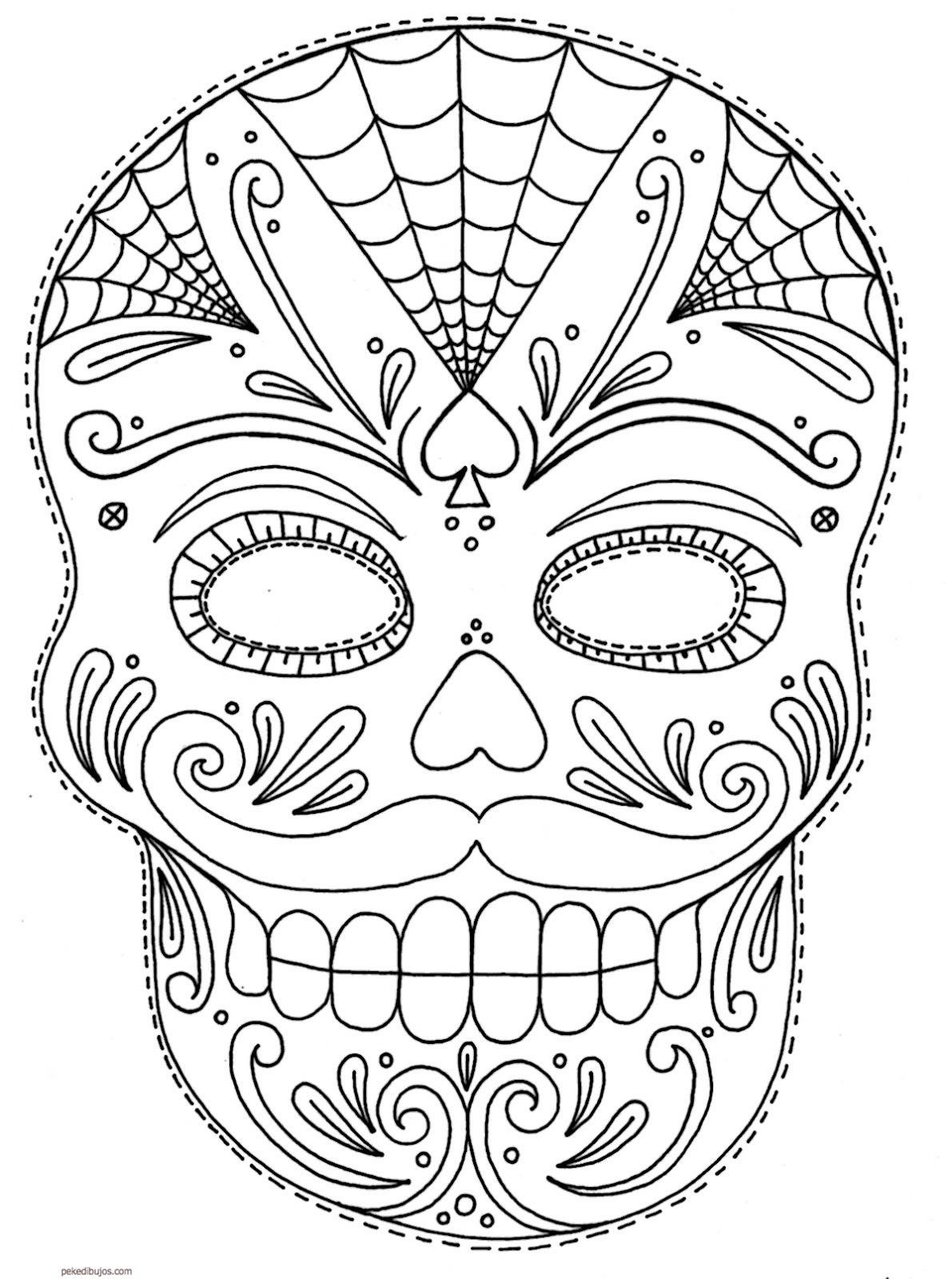 Paginas Para Colorear Mascaras