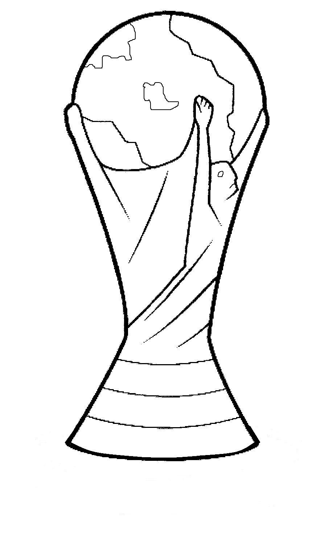 Desenho Da TaÇa Da Copa Do Mundo Pra Imprimir E Colorir