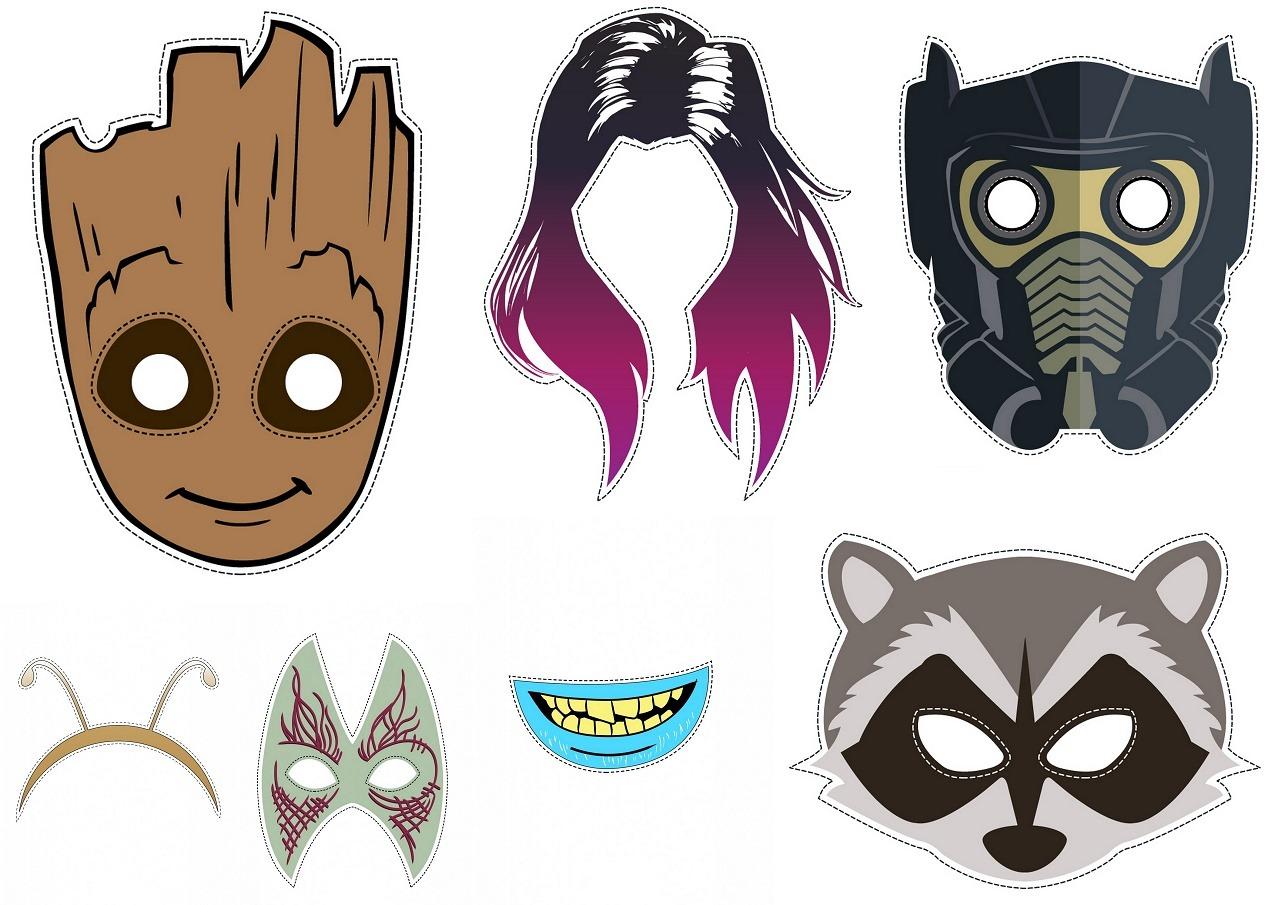 Máscaras De Guardianes De La Galaxia Para Imprimir Gratis